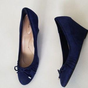 STYLE&CO florah blue suede wedges